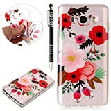 Custodia Galaxy J7 2016, Galaxy J7 2016 Cover Silicone Trasparente, SainCat Cover per Samsung Galaxy J7 2016 Custodia Silicone Morbido, Shock-Absorption Custodia Ultra Slim Transparent Silicone Case Ultra Sottile Morbida Gel Cover Case Custodia Protettiva Crystal Clear Cover Gomma Case Caso Trasparente Ultra Thin Slim Protettiva Anti-scratch Skin Cover Shell Coperture Bumper Cover per Samsung Galaxy J7 2016-Farina di Olio immagine