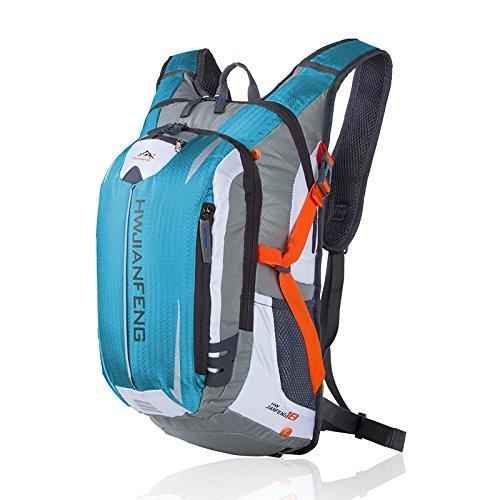 asdomo Outdoor Rucksack Klettern Tasche Reisen Wandern Camping Radfahren Jagd Wasserdicht Nylon Tasche Hellblau