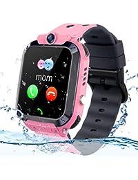 Smartwatch Kinder Wasserdicht Telefon Uhr, Vannico Kids Smartwatch für Jungen Mädchen Kinder Smartwatch mit SIM SOS Anruf (Rose)