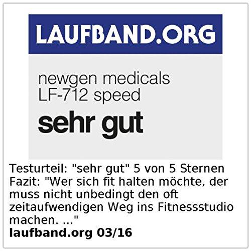 newgen medicals Profi-Laufband LF-712.speed mit 12 Programmen und Pulsmesser - 7
