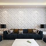Festnight 6 m² 3D Wandpaneele Wandverkleidung Wand Paneel Deckenpaneel aus Bambusfaser 0,3x0,3 Muster Blumen