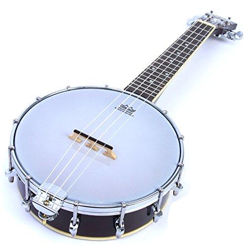 Banjolele/Banjo Ukulele: Mahagoni geschlossene Rückseite Banjo Ukulele von Malani (+ optional Gigbag) Banjolele (No Gig Bag)