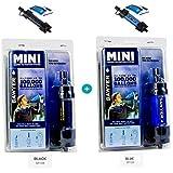 Sawyer Mini Pointone - Filtre à eau pour extérieur, camping, MINI, 2-er Set Schwarz - Blau, 2-er Set