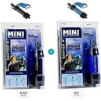 Sawyer Mini Pointone - Filtro de agua para exteriores (2 unidades), color negro y azul