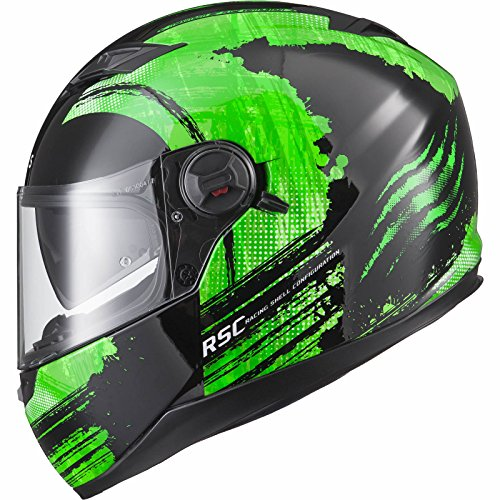 Agrius Rage SV Claw Motorcycle Helmet S Gloss Black/Green