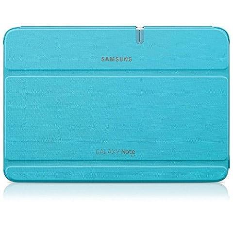 Samsung Original Diarytasche (Flipcover) im Buchdesign EFC-1G2NLECSTD (kompatibel mit Galaxy Note 10.1, Nicht kompatibel mit 2014 Edition) in capri