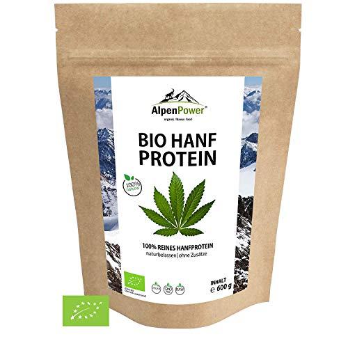 ALPENPOWER | BIO HANFPROTEIN aus Österreich | Ohne Zusatzstoffe | 100{a16e7c93d61b91f095c301f5a8b122daa857a20ae2df2b72ddbaa77809e25484} reines Hanfprotein | Hochwertiges Eiweiß | Vegan | Vielseitig anwendbar | Low Carb | Organic Hemp Protein | 600g