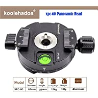 Koolehaoda 360° Panoramic Head Professional Camera Tripod Panoramic Head Universal Quick Release Plate Compatible with RRS/Arca-Swiss , (XPC-60)