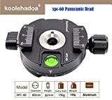 Koolehaoda 360 ° Panoramakopf  Professionelle Kamera Stativ Panoramakopf  Universal-Schnellwechselplatte  Kompatibel mit RRS / Arca-Swiss,  (XPC-60)