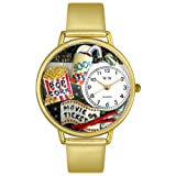 Whimsical Watches G0420013 - Reloj analógico de Cuarzo para Mujer con Correa de Piel, Color Dorado