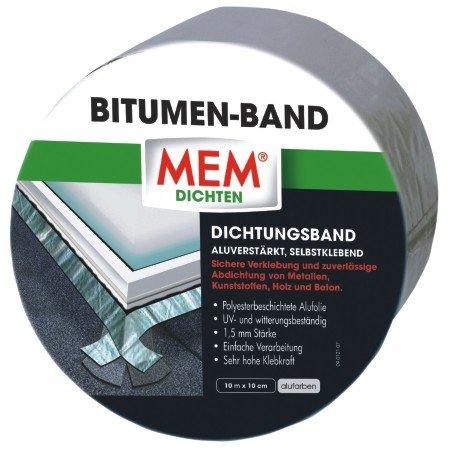 MEM 500481 Bitumen Band 10m x 100 mm alu