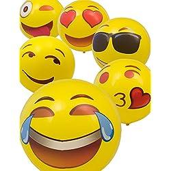 Home Tools.EU®–Emoji baño pelota de | bañera hinchable, varios Smileys a elegir–Cool Smile Love Kiss, 45cm, Blasebalg