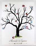 Komplett Set Fingerabdruck Baum Hochzeit