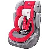Renolux 295073.3 - Asiento infantil para coche, grupos 1, 2 y 3 (9-36 kg), color rojo