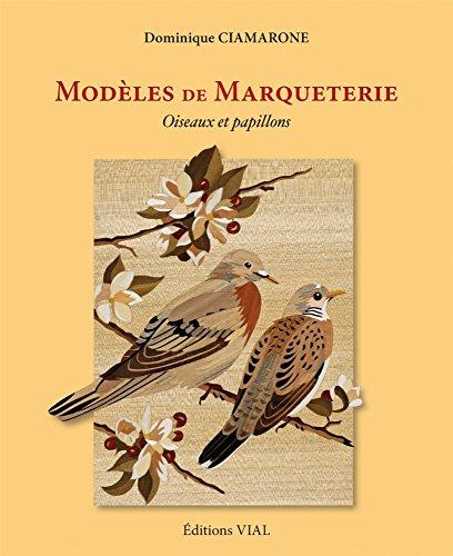 Modèles de marqueterie. Oiseaux et papillons