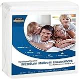 UTOPIA Betten Premium Reißverschluss Wasserdichte Matratze umgreifung, Polyester-Mischgewebe, weiß, Twin