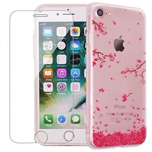 iphone-7-case-with-tempered-glass-screen-protector-yoowei-clear-shiny-series-bling-crystal-ultra-thi