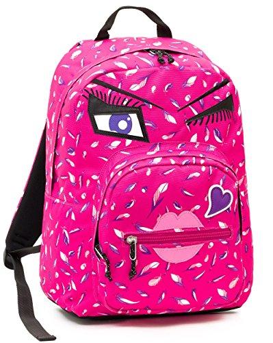Zaino invicta - ollie pack face yap - rosa kiss - tasca porta pc padded - scuola e tempo libero americano 25 lt