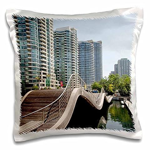 Danita Delimont - Toronto - Marina, Wave Deck, Toronto, Ontario, Canada - CN08 CMI0050 - Cindy Miller Hopkins - 16x16 inch Pillow Case (pc_135352_1)