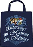 Baumwolltasche mit Print - UNTERWEGS IM NAMEN DES KÖNIGS  - 08933 navyblau
