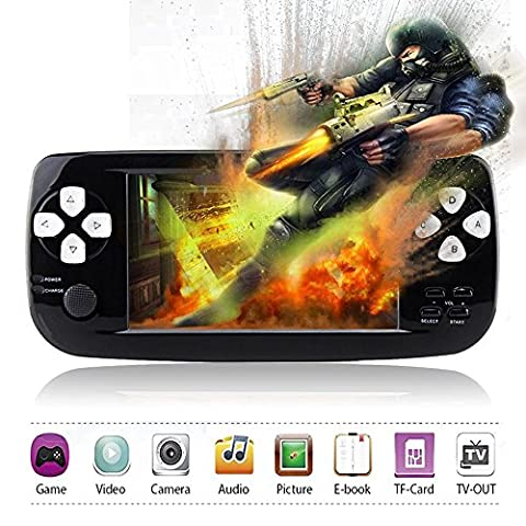Handheld Game Consoles XinXu 4.3 inch TFT Screen Retro Games Console with Camera Video Music Ebook Function Portable Rechargeable Video Game Handheld with 653 Games Christmas Birthday Gifts For Friends Kids Children