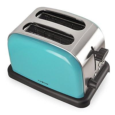 Klarstein BT-318 Toaster Double Slot Toaster Stainless Steel Defrost