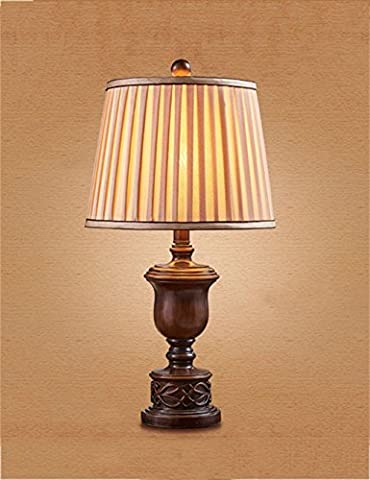 LQCHUAJIA Table Lamp European-style Bedside Lamp Bedroom Retro Decorative Table Lamp Reading Lamp