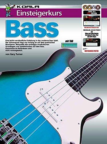Einsteigerkurs Bass (Buch/CD/Doppel-DVD/Poster)