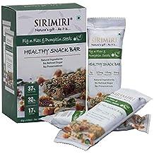 Sirimiri Nutrition Bar - Fig N Flax & Pumpkin Seeds - Pack Of 6 No Preservatives, No Added Sugar, Gluten Free, Soy Free