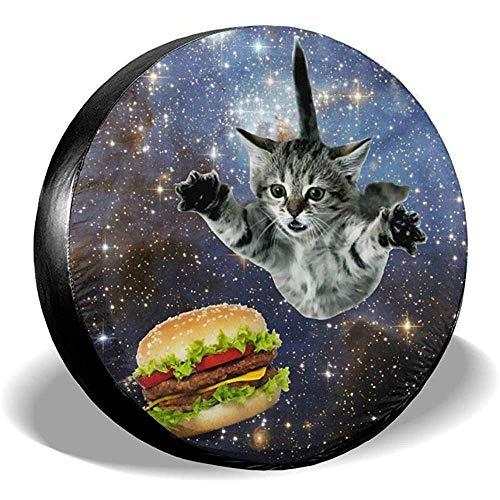 15inch Coperture Pneumatici Copertura Universale per Ruota di scorta Impermeabile Hamburger Cat per rimorchio, Camper, SUV e Molti Veico