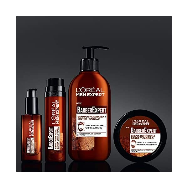 L'Oréal Paris Men Expert – Barber Club gel hidratante para barba corta y piel – 50 ml