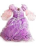 Ninimour Prinzessin Kleid Grimms Märchen Kostüm Cosplay Mädchen Halloween Kostüm Violett#4, Gr.120