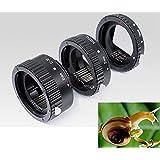 3x Tube d'extension bague allonge Meike Macro autofocus pour Canon (7D 6D 700D 750D 70D 80D 5D 5D mark II Mark III 50D 60D 100D 1100D 1200D)