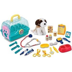 veterinaria perros: Gueydon Jouets Sas 800549 - Cesta de juguete con accesorios de veterinario