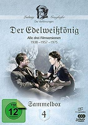 Der Edelweißkönig (1938, 1957, 1975) - Die Ganghofer Verfilmungen - Sammelbox 4 (Filmjuwelen) [3 DVDs]