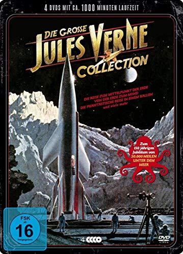 Die grosse Jules Verne Collection 20.000 Meilen unter dem Meer - 12 Filme auf 4 DVDs - Steelbox
