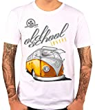 T-Shirt Motiv Bulli T1 Oldschool weiß Herren (M)