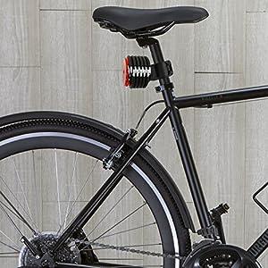 NEAN–Candado de bicicleta plegable, reflector, soporte, 2llaves, 20x 3,5x 920mm, redondo