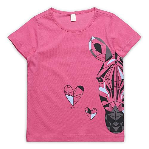 ESPRIT KIDS Mädchen SS T-Shirt, Rosa (Dark Pink 326), Herstellergröße: 128+ -