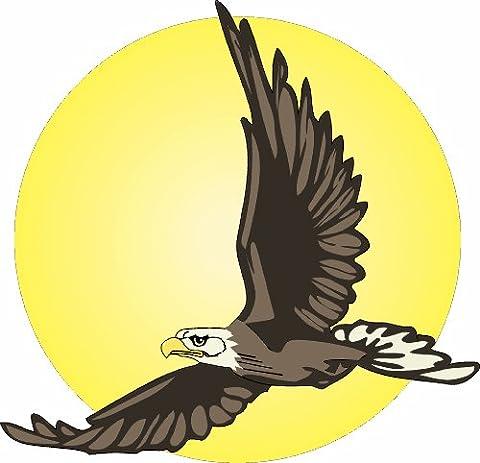 Adler im Flug 20 x 20 cm groß Aufkleber für Wand Fenster Tür Möbel Auto Laptop Spiegel……