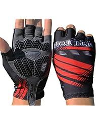 SMING Guantes de Ciclismo con almohadilla de gel a medio dedo absorbentes a impacto guantes para hombre/mujer