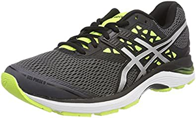 ASICS Men's Gel-Pulse 9 Carbon/Silver/Safety Yellow Running Shoes-6 UK/India (40 EU)(7 US)(T7D3N.9793)