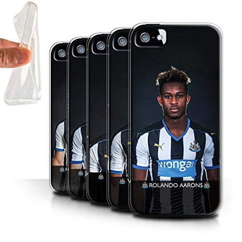 Offiziell Newcastle United FC Hülle / Gel TPU Case für Apple iPhone 5/5S / Pack 25pcs Muster / NUFC Fussballspieler 15/16 Kollektion Pack 25pcs