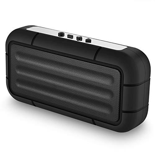 Bluetooth Lautsprecher, V5.0 Kabelloser Tragbarer Lautsprecher mit HD Audio & Multifunktions(FM, Micro SD Karte Slot, Mikrofon), 10 Stunden Exzellente Klangqualität, Für Indoor & Outdoor Aktivitäten