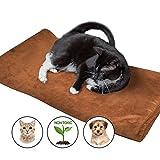Cama térmica grande para mascotas - La mejor opción para perros y gatos - 100% aconsejable para mascotas y colchoneta blanda para mascotas XL - Cojín protector de sofá para mascotas Marrón