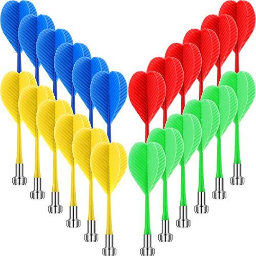 24 Stück Magnet Pfeile Sicherheit Plastik Pfeile Ersatz Pfeil für Jungen Mädchen und Erwachsene Ziel Gejoy