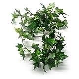 TININNA 180cm Künstlicher Efeu Hänger Efeu Efeuranke Künstliche Pflanze Efeugirlande Kunstpflanze Dekoration 3 Stück