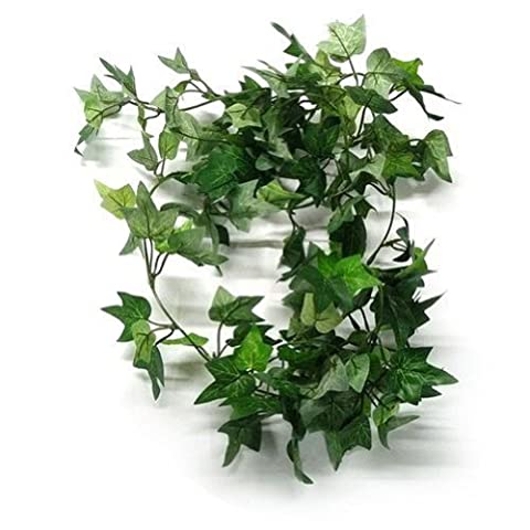 TININNA 6 Feet Realistic Artificial Silk Greenery Ivy Chain Fake Hanging Vine Plant Leaves Garland Home Garden Wall Decoration 10 Pcs
