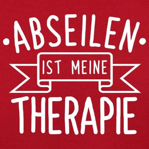 Abseilen ist meine Therapie - Herren T-Shirt - 13 Farben Rot