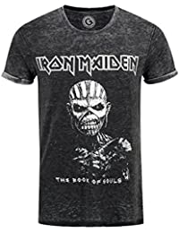 Official T Shirt IRON MAIDEN Vintage Logo ~ Book Souls Burnout L